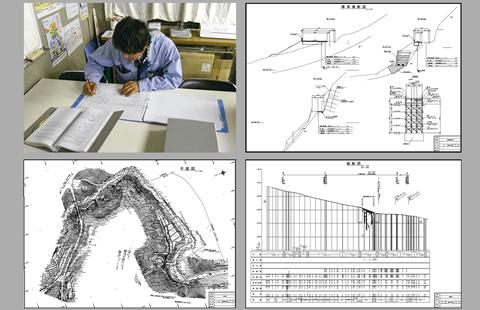 起工測量、設計照査・施工計画