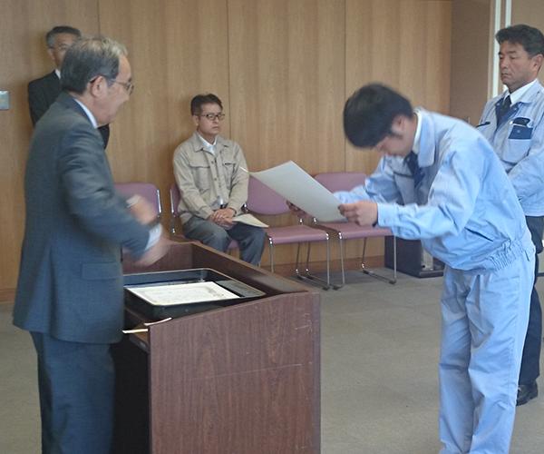 豊川市役所より優良工事顕彰を受賞2