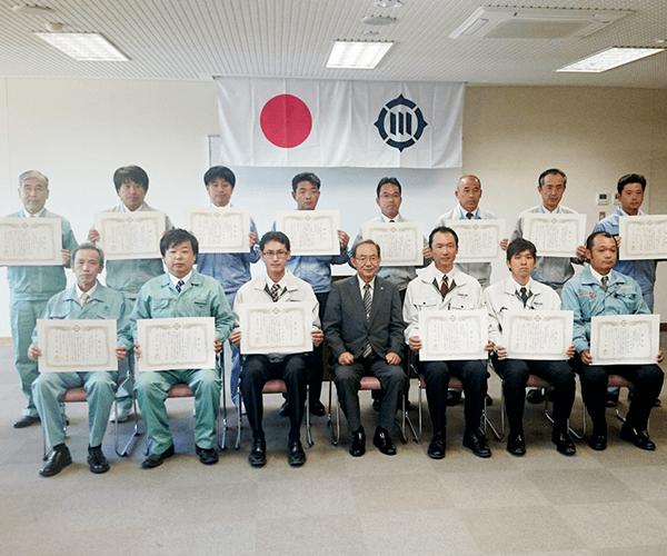 豊川市役所より優良工事顕彰を受賞1