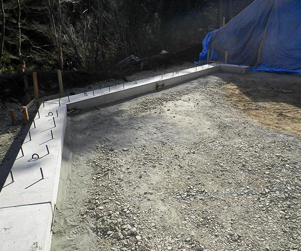 補強土壁工(テールアルメ):2.基礎工
