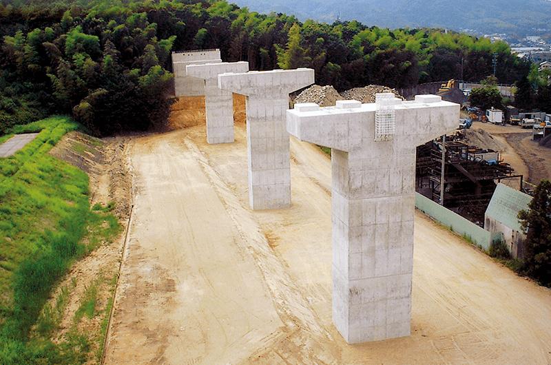 23号八ツ田第一高架橋下部工事