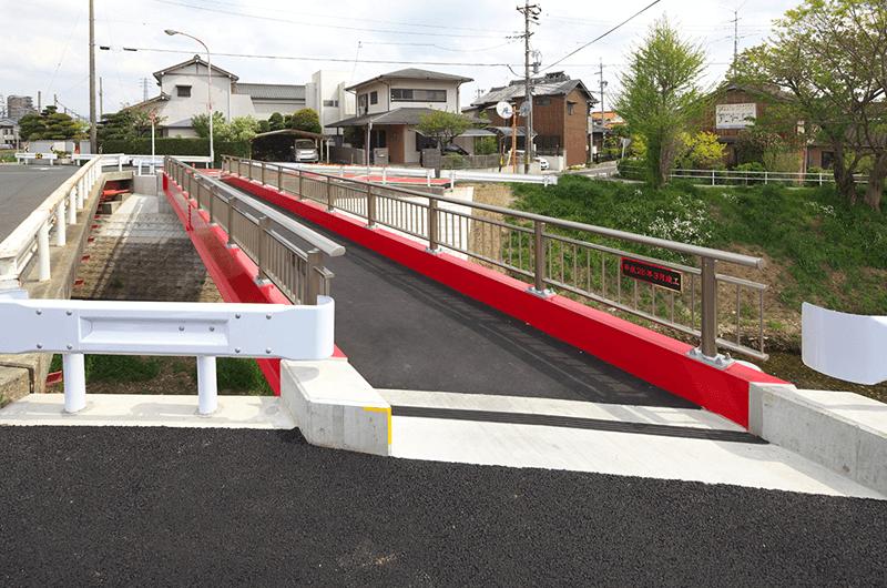 橋梁整備工事野路橋(上部工)