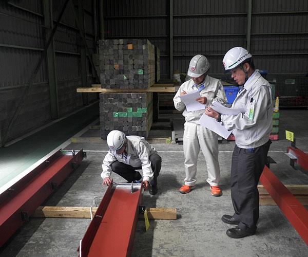 海陽ヨットハーバー整備工事 鉄骨製作工場 製品検査2