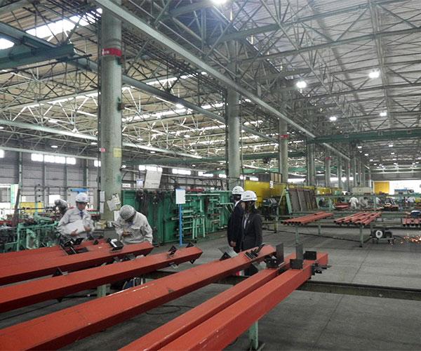 海陽ヨットハーバー整備工事 鉄骨製作工場 製品検査1