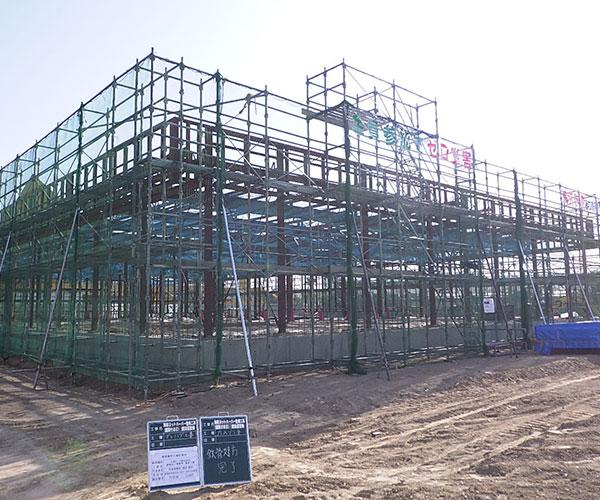 海陽ヨットハーバー整備工事 鉄骨建方状況4