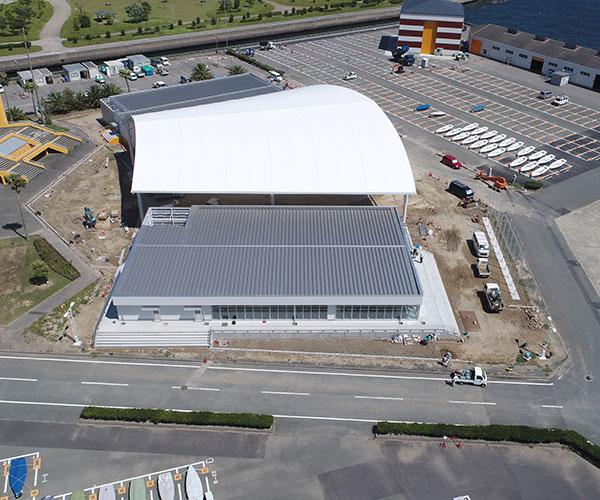 海陽ヨットハーバー整備工事 空撮写真3