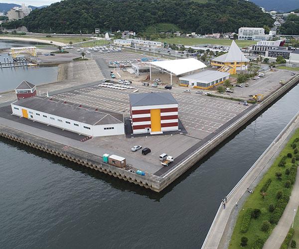 海陽ヨットハーバー整備工事 空撮写真2