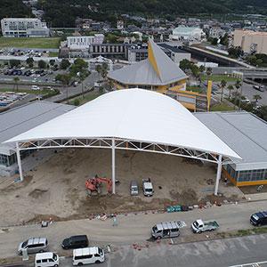 海陽ヨットハーバー整備工事 空撮写真