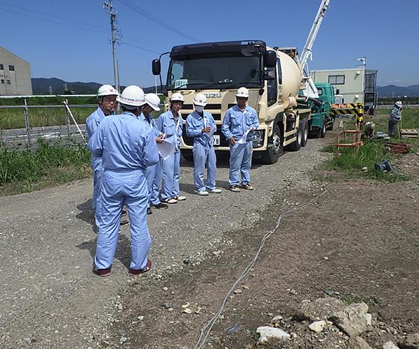 シンワ御津工場建設工事 基礎工事3