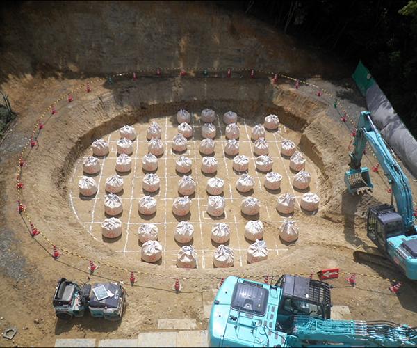 中山配水池改修工事 配水池築造工:2.地盤改良工1