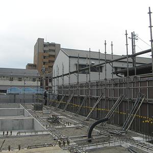 富士文化幼稚園 外部足場組立作業