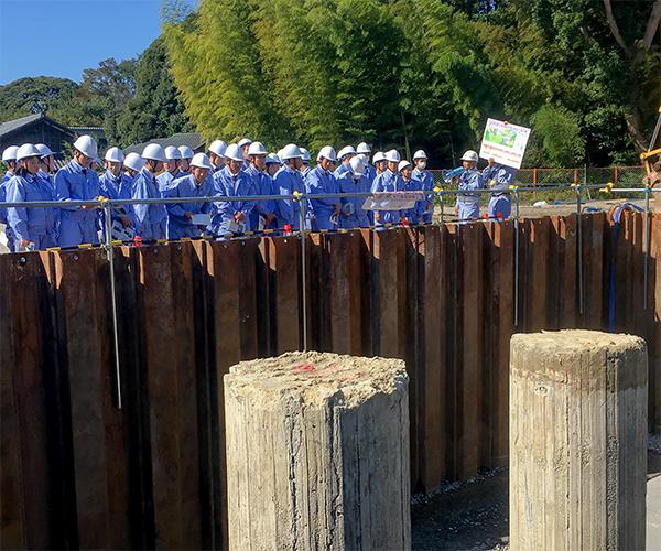 愛知県立岡崎工業高等学校の皆さんが現場見学に来られました1