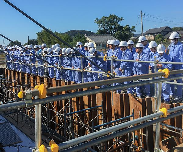 愛知県立岡崎工業高等学校の皆さんが現場見学に来られました2