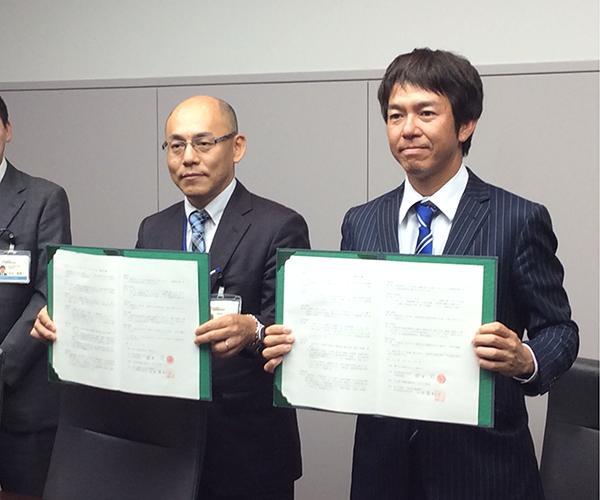 国土交通省中部地方整備局名古屋国道事務所とボランティアサポートの協定を締結しました。1