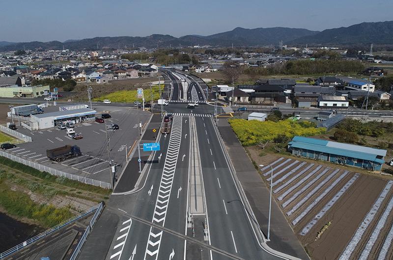 豊川市篠田町〜樽井町道路改良工事