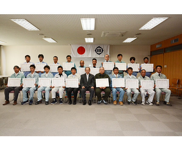 豊川市 優良工事顕彰式1