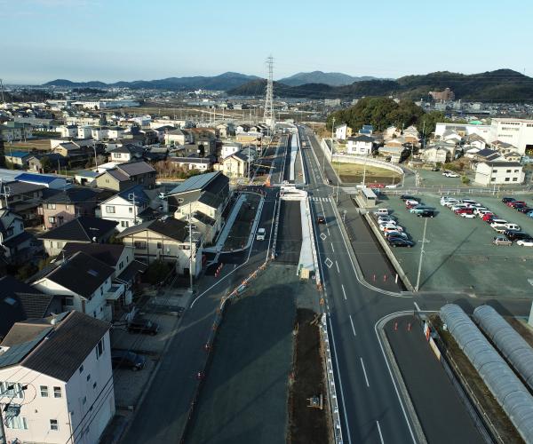 東三河環状線(大崎工区)の4車線化に向けた道路改良工事1
